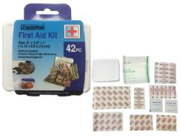 144 Units of 42pc First Aid Kit - First Aid and Hygiene Gear