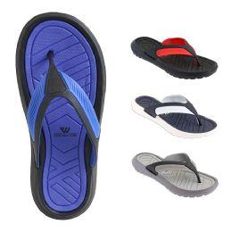 48 Units of Mens Thong Sandals Assorted Colors - Men's Flip Flops and Sandals