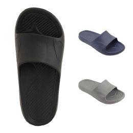 60 Units of Mens Shower Slides Assorted Color - Men's Flip Flops and Sandals