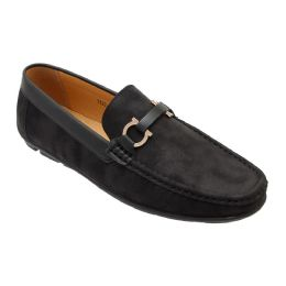 12 Units of Mens Loafer Driver Shoes In Black - Men's Shoes