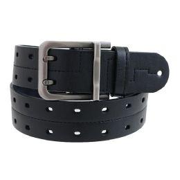 36 Units of Mens Casual Dress Belt In Black - Mens Belts