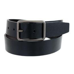 36 Units of Mens Casual Dress Reversible Belt In Black - Mens Belts