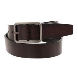 36 Units of Mens Casual Dress Reversible Belt In Brown - Mens Belts