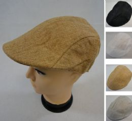 36 Units of Linen Summer Ivy Cap - Fedoras, Driver Caps & Visor