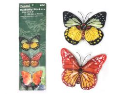 72 Units of 4pc Butterfly Stickers - Stickers
