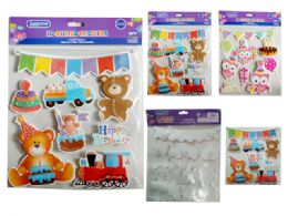 288 Units of Birthday 3D Glitter Stickers - Stickers