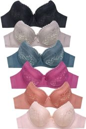 288 Units of MAMIA LADIES FULL CUP LACE BRA - Womens Bras And Bra Sets