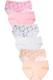 432 Units of MAMIA LADIES COTTON BIKINI PANTY EXTENDED - Womens Panties & Underwear