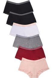 432 Units of MAMIA LADIES COTTON BOYSHORT PANTY - Womens Panties & Underwear