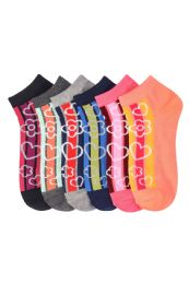 432 Units of GIRLS ANKLE SOCK ADAGIO PRINTED DESIGN SIZE 9-11 - Girls Ankle Sock