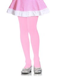 72 Units of Mopas Girls Plain Tights In Pink Size Extra Large - Girls Socks & Tights