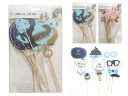 288 Units of 10 Pc Baby Shower. Camera Props - Party Novelties