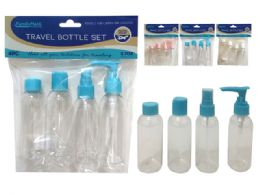 96 Units of Travel Bottle 4pc / Set Solid - Travel & Luggage Items
