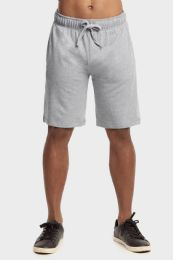 12 Units of Knocker Mens Lightweight Terry Shorts In Heather Grey Size 2 X Large - Mens Shorts