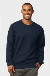 12 Units of MENS LIGHT WEIGHT FLEECE SWEATSHIRTS IN NAVY SIZE MEDIUM - Mens Sweat Shirt