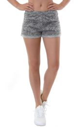 36 Units of SOFRA LADIES SWEATSHORTS IN HEATHER GREY - Womens Shorts