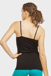 72 Units of Ladies Camisole In Black - Womens Camisoles & Tank Tops