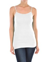 72 Units of MOPAS LADIES COTTON CAMISOLE IN WHITE - Womens Camisoles & Tank Tops