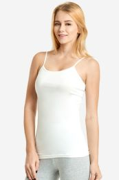 72 Units of MOPAS LADIES CAMISOLE WITH SELF FABRIC BINDING IN BLACK - Womens Camisoles & Tank Tops