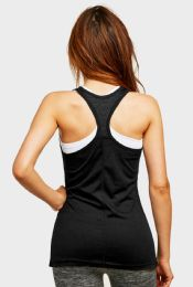 72 Units of SOFRA LADIES LIGHT WEIGHT ATHLETIC TANK TOP IN BLACK - Womens Camisoles & Tank Tops