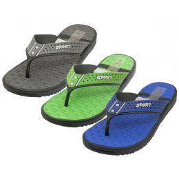 30 Units of Men's Real Soft Comfortable Sport Thong Sandals - Men's Flip Flops and Sandals