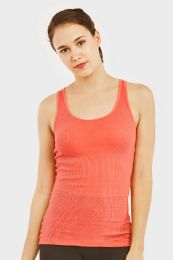72 Units of Sofra Ladies A Shirts In Coral - Womens Camisoles & Tank Tops