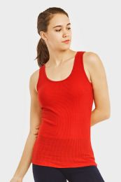 72 Units of Sofra Ladies A Shirts In Red - Womens Camisoles & Tank Tops