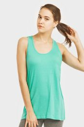 72 Units of Sofra Ladies Loose Fit Jersey Tank Top In Turquoise - Womens Camisoles & Tank Tops