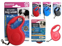 24 Units of Retractable Dog & Pet Leash - Pet Collars and Leashes