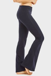36 Units of Mopas Ladies Yoga Pants In Navy - Womens Active Wear
