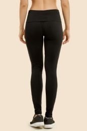 36 Units of Mopas Ladies Plain Yoga Leggings In Black - Womens Active Wear