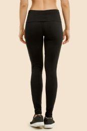 36 Units of MOPAS LADIES PLAIN YOGA LEGGINGS IN BLACK - Womens Active Wear
