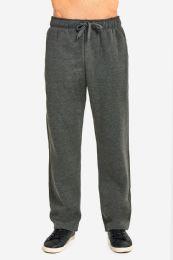 12 Units of Knocker Mens Heavy Weight Fleece Sweatpants In Charcoal Grey Size Medium - Mens Sweatpants