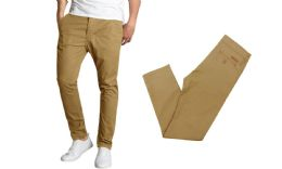 24 Units of Men's SliM-Fit Cotton Stretch Chino Pants Solid Timber - Mens Pants