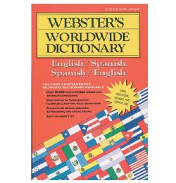 48 Units of Webster Jumbo 320 Pg. SpanisH-English Dictionary - School Supplies