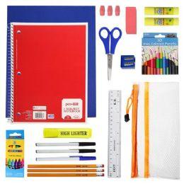 24 Units of 32 Piece Kids Bulk School Supply Kits - Wholesale School Supplies - School Supply Kits