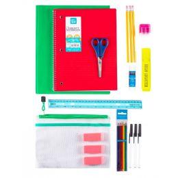 24 Units of 23 Piece Kids Wholesale School Supply Kits - School Supply Kits