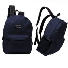 "24 Units of 17"" Classic Navy Wholesale Backpacks - Backpacks 17"""
