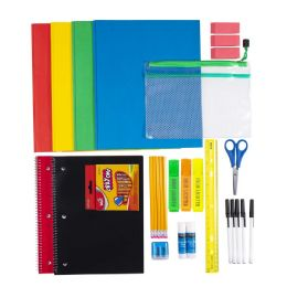 12 Units of 43 Piece Kids Bulk School Supply Kits - School Supply Kits