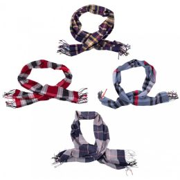 24 Units of Cashmere Winter Scarves in Assorted Colors - Winter Scarves