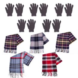 96 Units of Winter Gloves And Bulk Scarves Combo Pack - Winter Care Sets