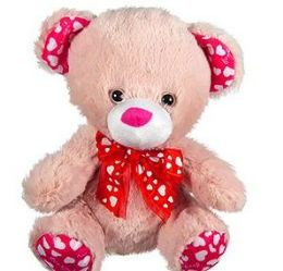 30 Units of Plush Pink Bears WithHeart Paws And Ears - Plush Toys