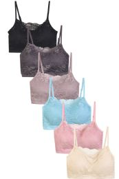 288 Units of SOFRA LADIES SEAMLESS LACE BRA - Womens Bras And Bra Sets
