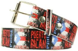 36 Units of Proud To Be A Puerto Rican Belt - Belts