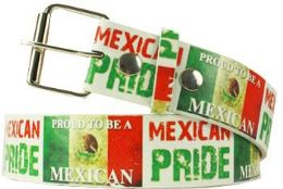 96 Units of Mexican Pride Printed Belt - Belts