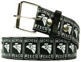 36 Units of Hecho En Mexico Printed Belt - Belts