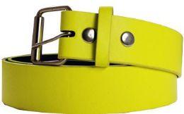 36 Units of Neon Mixed Size Plain Belt - Belts