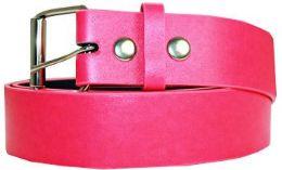 36 Units of Neon Pink Mixed Size Plain Belt - Belts
