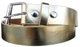 36 Units of Mixed Size Gold Plain Belt - Belts
