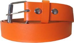 36 Units of Mixed Size Orange Plain Belt - Belts